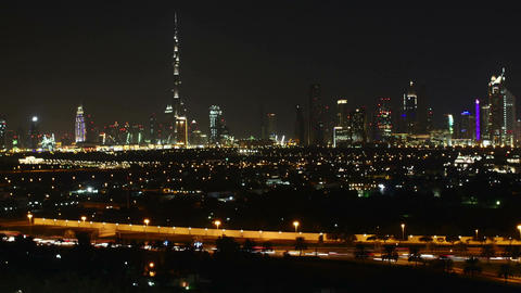 Motion timelapse of beautiful towers in Dubai and surroundings Footage