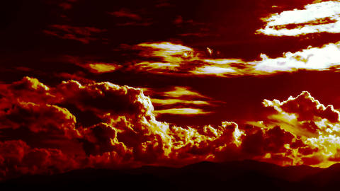 Burning Blowing Hell Fire Clouds Time Lapse Epic Cinematic ビデオ