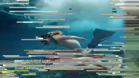 Glitch Breakbeat Slideshow After Effects Template