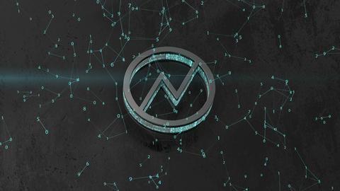 information logo NXT. internal information processes. blockchain Footage