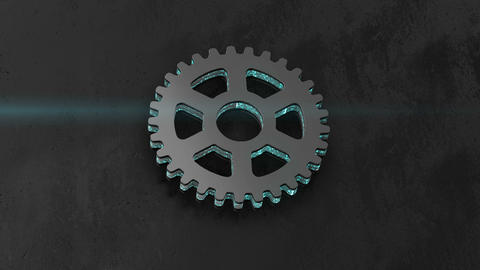 gear icon with processes. energy logo Footage