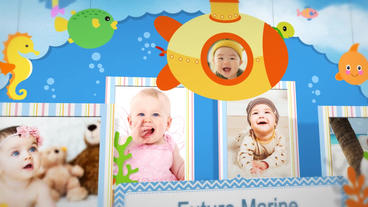 Baby pop up book Plantilla de After Effects