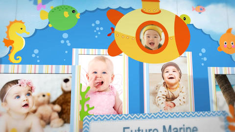Baby pop up book After Effects Template