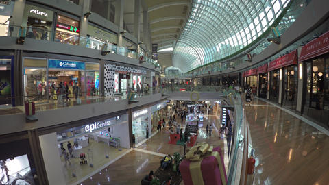 Premium Shopping inside the Mall at Marina Bay Sands Live Action