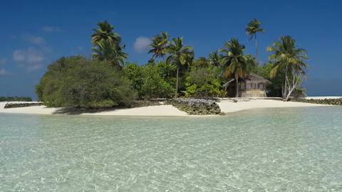 Tropical Island Paradise in the Maldives in Timelapse. FullHD video Footage
