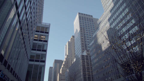 High-rise buildings in New York Footage