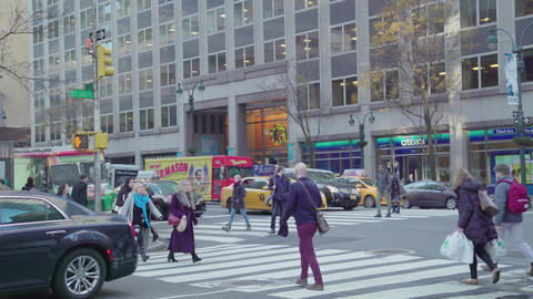 Crosswalk in New York Footage