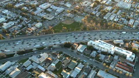 Above la freeway traffic Footage