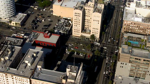 Aerial city office building view Footage