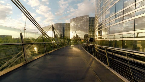 Business buildings company glass architecture aerial view Stock Video Footage