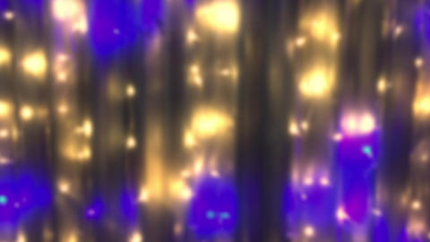 Blurred blinking light bulbs garlands. As an abstract holiday background for the Footage