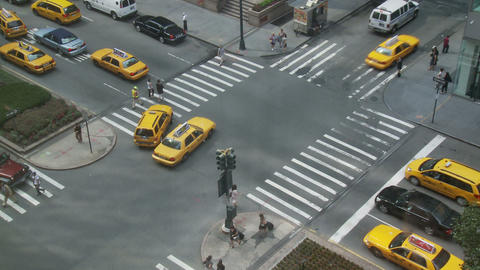 Crowded nyc intersection Footage