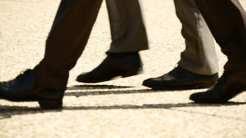 Group of business people walking together slow motion team Footage