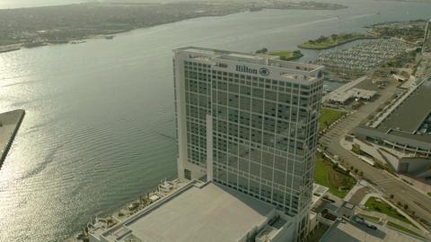 Hotel sweep city skyline Footage