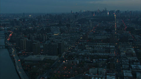 Scouring new york city skyline aerial Live Action