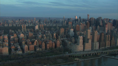 Nyc high rise aerial shot Live Action