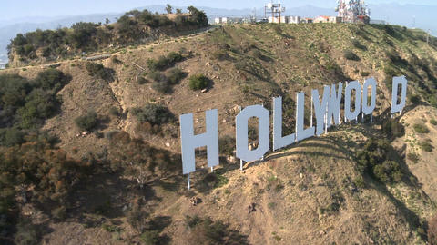 Scenic hills hollywood sign Footage