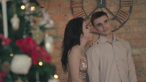 Loving couple is celebrating Footage