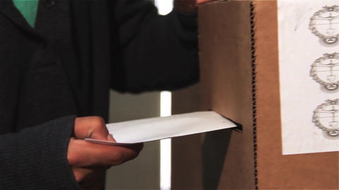 Man Voting In Ballot Box Footage