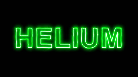 Neon flickering green Element of periodic table HELIUM in... Stock Video Footage
