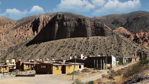 Small town in the Argentine Altiplano Footage