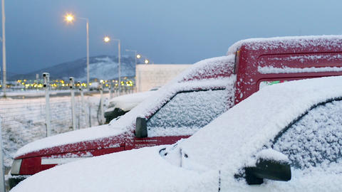 Cars with frozen snow Image