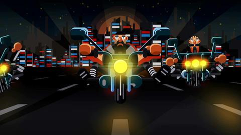 Cartoon Biker Logo After Effects Template