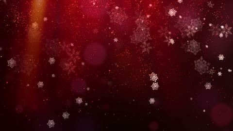 Red Christmas Background Animation