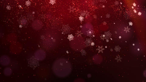 Red Christmas Background, Stock Animation