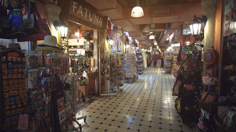 Small Shops with handicrafts and Souvenirs at Central Market in Kuala Lumpur Footage