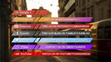 Social media lower third pack After Effects Template