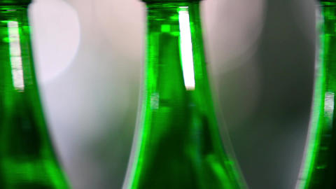 Filling empty bottles with champagne Footage
