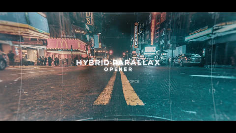 Hybrid Parallax Opener After Effects Template