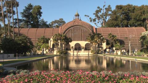 Botanical gardens and reflecting pool balboa park Footage