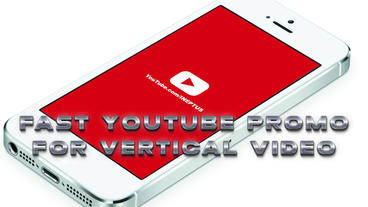 Fast Youtube promo vertical templates Apple Motion Template