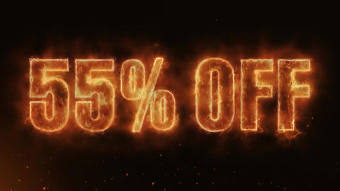 55% OFF Text Electric Energy Revealed Hot Glowing Burning Fire Motion Background Animation