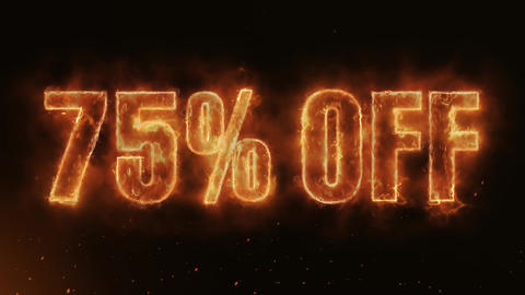 75% OFF Text Electric Energy Revealed Hot Glowing Burning Fire Motion Background Animation
