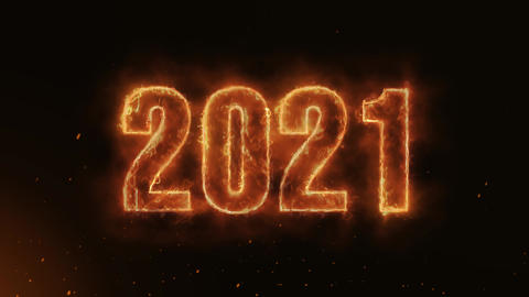 2021 Text Electric Energy Revealed Hot Glowing Burning Fire Motion Background Animation