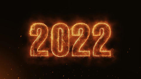 2022 Text Electric Energy Revealed Hot Glowing Burning Fire Motion Background Animation