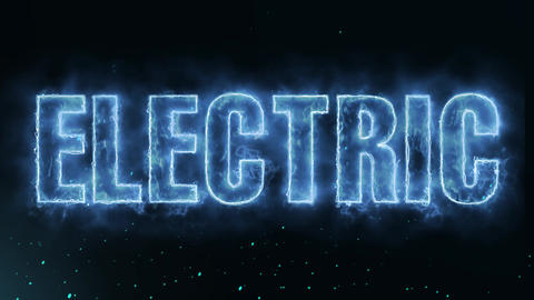 Electric Text Electric Energy Revealed Hot Glowing Burning Fire Motion Animation