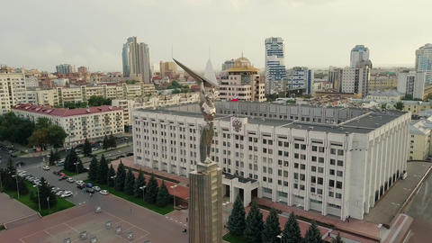 View of the square of glory. Monument of Glory, Government of Samara Region. Live Action