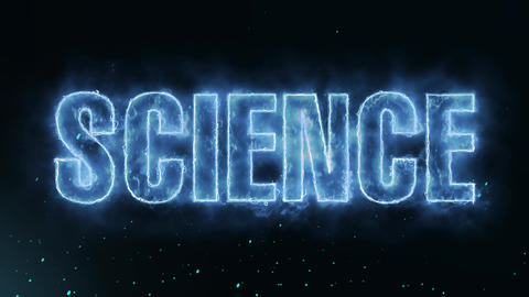 Science Text Electric Energy Revealed Hot Glowing Burning Fire Motion Background Animation