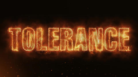 Tolerance Text Electric Energy Revealed Hot Glowing Burning Fire Motion Animation