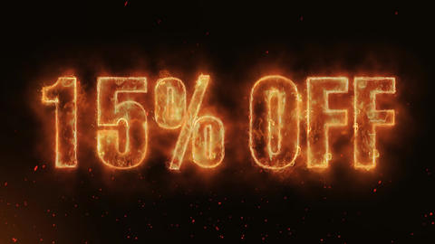 15% OFF Word Hot Burning on Realistic Fire Flames continuous seamlessly loop Animation