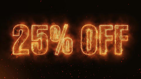 25% OFF Word Hot Burning on Realistic Fire Flames continuous seamlessly loop Animation