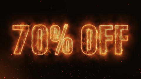 70% OFF Word Hot Burning on Realistic Fire Flames continuous seamlessly loop Animation