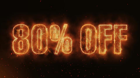 80% OFF Word Hot Burning on Realistic Fire Flames continuous seamlessly loop Animation