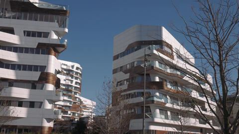 Milan City Life district, luxury apartment buildings Live Action