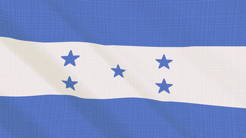 Honduras flag waving in the wind. Icon in the frame. Animation loop Bild