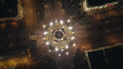 Cathedral of St righteous warrior Feodor Ushakov. In the light of night lights. Footage